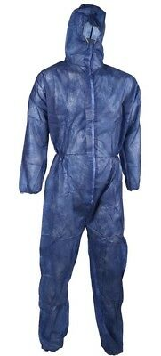5 x Disposable Coverall Size M Elasticated Blue FRONTIER