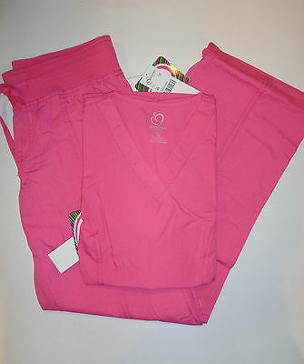 Peaches Pink Medical Scrub Set Top Style 4178/Pant 7438 XL New With Tag  Reg 52