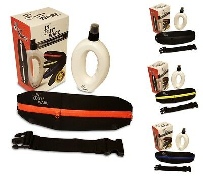 Premium Running Belt and Bottle Set with Elasticated Extension