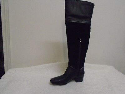 5e72928676a H by Halston Leather   Suede Over-the-knee Boots - Kora black 8m