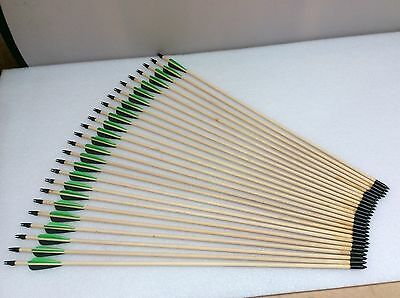 "29"" Wooden Leisure Archery Arrows x25"