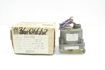 New Barksdale D1H-A80 Pressure Switch 0.5-80Psi 125/250/480V-Ac 10A D587981