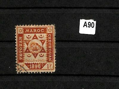 A90 - Morocco 1896 Local - Used