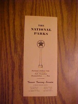 The National Parks Texaco Touring Service 1950 Brochure