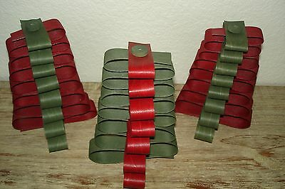 Longaberger 2016 Holiday Woodcrafts Splint Ribbon Trees Set 3 Red & Green
