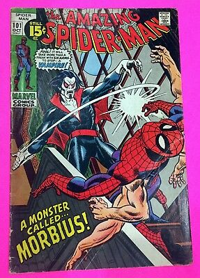 AMAZING SPIDER-MAN #101 ~ 1st appearance of Morbius the Living Vampire! Gil Kane