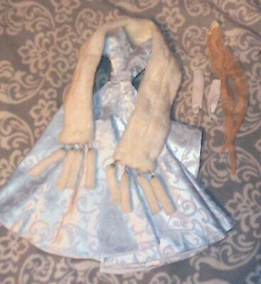 Gown, Fur and hose fits 16 Dolls - Tyler Wentworth