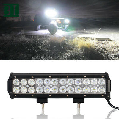 """12""""inch 72W Cree Led Work Light Bar Flood Spot Suv Boat Driving Lamp Offroad 4WD"""