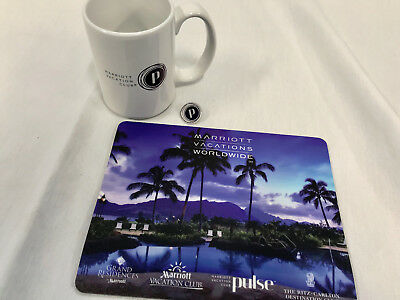 Marriott Vacation Club Pulse Collectables (Mug, Mouse-Pad, & Pin) -FREE SHIPPING
