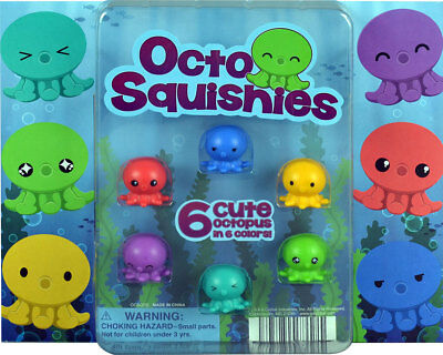 """Octo Squishies Squishy Figures in 1"""" Capsules - 250 Count + Display"""