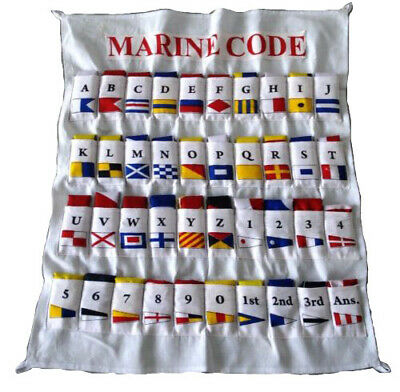 100% COTTON - International Maritime Signal FLAG -Set of Total 40 flag with CASE