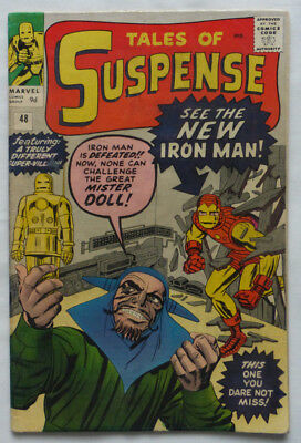 Tales Of Suspense #48, New Iron Man Armour, Classic Silver Age Marvel 1963.