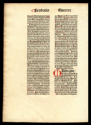 Mysterious Theologian Nicolaus de Byard 1481 Incunable Leaf  Dominican Oxford
