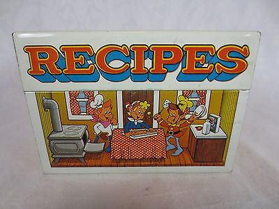 """Vintage SNAP CRACKLE POP RIce Krispies TIN for RECIPES ~3 x 3.5 x 5"""" ~Kellogg Co"""