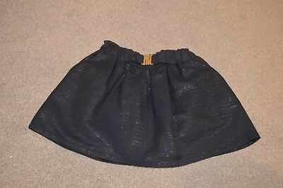 Chloe Girls Navy Skirt With Silver Thread Age 4 Years Brand New £0.99!!