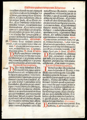 1566 Italian Roman Missal Leaf Christmas 4th Saturday in Advent Luke 3, 1-6