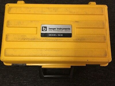 BERGER INSTRUMENTS -  Model 190B - Level & Transit with Case - GOOD CONDITION