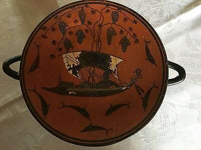 kylix Dionysos Plate  of Athens 480 B.C. Ancient Greek Replica Reproduction