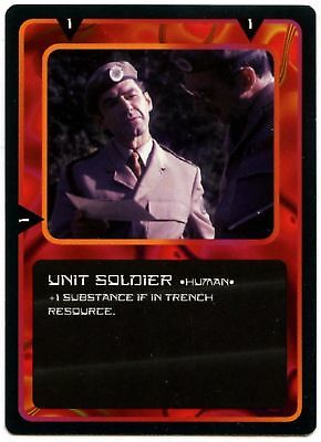 Unit Soldier * Human  - Doctor Who 1996 Common CCG Trade Card (C701)