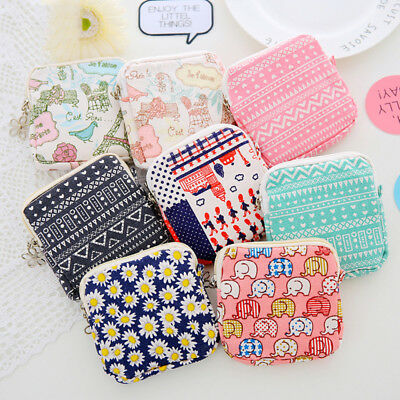 Sanitary Napkins Pads Purse Holder Carrying Storage Bag Pouch Organizer Portable