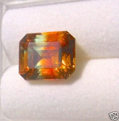 Sphalerite Vs Quaility Bi Color Faceted Emerald Cut 4.05 Carats Spain