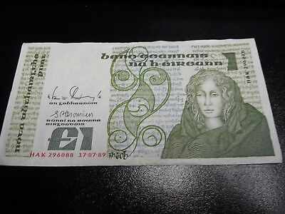 Northern Ireland 1 Pound old banknote dated 1989