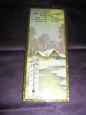 Vintage - Rare - Spic & Span Market, Dorchester,  Thermometer
