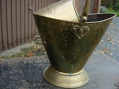 brass arts and crafts coal bucket