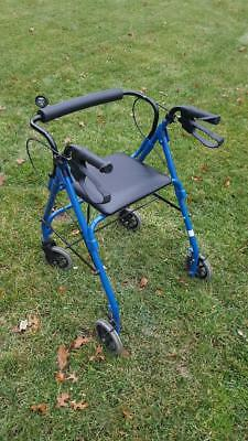 Medical Aluminum Rollator with hand brake and back support