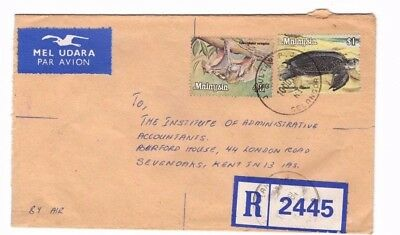 1984 Malaysia - Registered Johor 2445 To Kent Cover From Collection 8C/4
