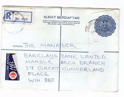 1982 Malaysia - Registered Perak - England Cover From Collection 8C/13