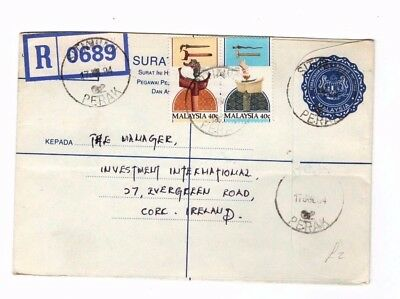 1984 Malaysia - Registered Perak - Ireland Cover From Collection 8C/14