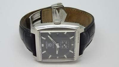 Mens Stainless Steel Tag Heuer Monaco Calibre 6 WW2110 37mm Black Dial - Boxed