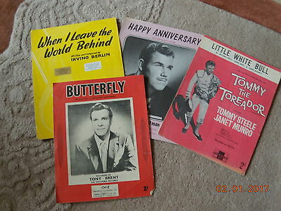 4---VINTAGE  SONGS-2 FROM -50s-BUTTERFLY--LITTLE WHITE BULL-etc.
