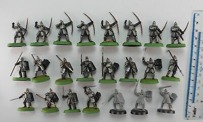 23 WARRIORS OF MINAS TIRITH Plastic Lord of the Rings LOTR Good Gondor Army 9