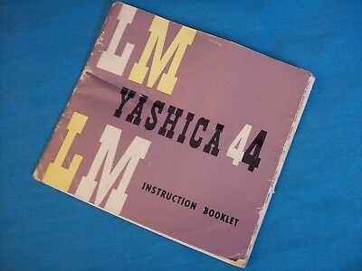 YASHICA 44 LM Camera Instruction Booklet