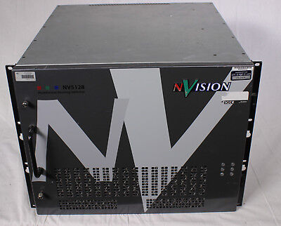 nVison NV5128 Audio frame with Analog, AES and TimeCode Cards