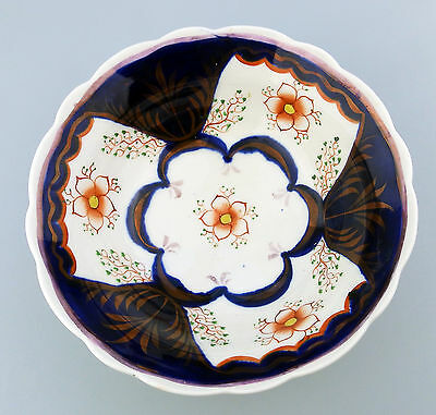 Gaudy Welsh Antique English Pottery  Bowl / Basin 19thC
