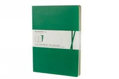 (TG. XL) Emerald green, ruled volant notebooks XL - NUOVO