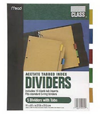 ACCO/MEAD 11 x 8-1/2-Inch Colored Tab Index Dividers