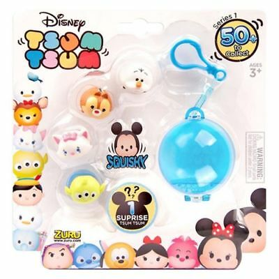 Tsum Tsum Disney Mini Figures with Keychain (Pack of 5, Multi-Colour)
