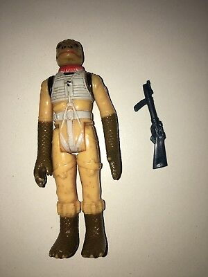 Star Wars Vintage Figur 77-85 Bossk Bounty Hunter mit original Waffe