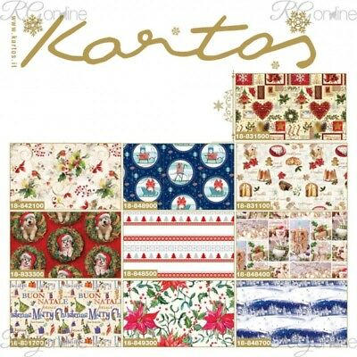 CARTA REGALO NATALE 70x100 ASSORTITI - 10 FOGLI 10 SOGGETTI ASSORTITI