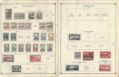 San Marino Collection 1897-1940 on 4 Scott International Pages
