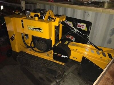 Predator 38 RX Remote Controlled Stump Grinder. Includes 2 stump grinding guards
