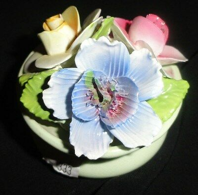 Vintage Staffordshire England FLOWER BOWL Bone China  Porcelain Flowers