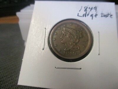 1849 U.s. Half Cent - Lots Of Detail & Great Surfaces - Nice Coin-D039