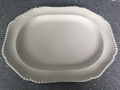 Large Unbranded Cream Vintage Platter For The Christmas Turkey Or Buffet Food