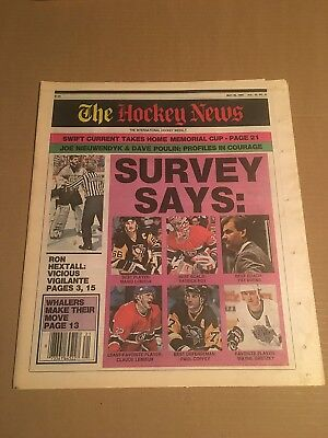 The Hockey News, May 26, 1989, Vol 42 No 37, 44 Pages, 11 X 16, Gretzky, Lemieux