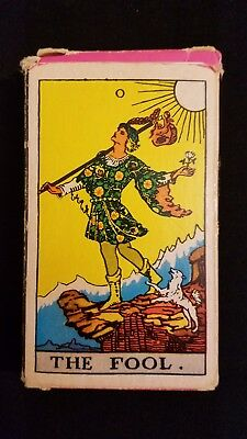 Rare Vintage 1960's 2nd Edition University Books Tarot Cards: The Fool cover